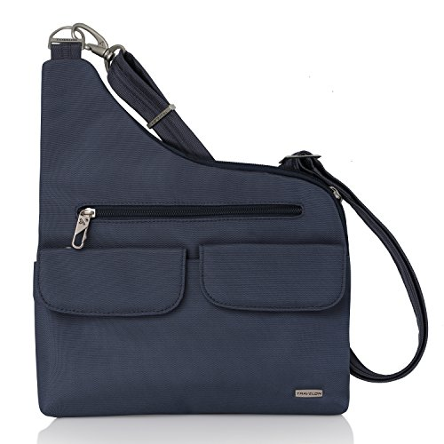 Travelon Anti-Theft Cross-Body Bag, Two Pocket (Blue – Exclusive Color)