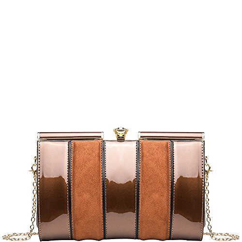 Clutch Elizabeth by Farrow Mia Crossbody Bronze MKF K Collection qXOg5w0