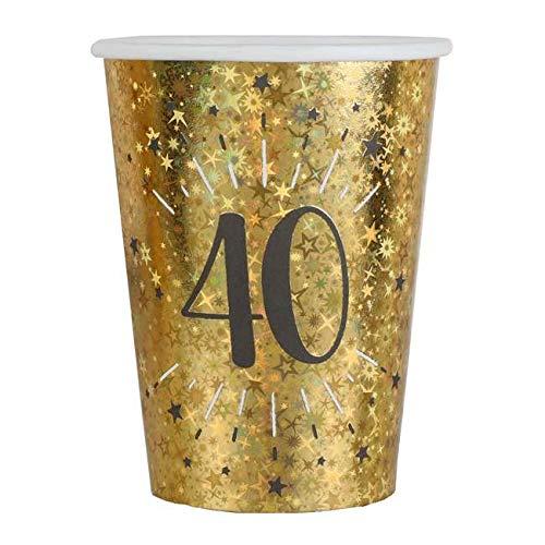 1001decotable - 20 Vasos de cumpleaños de 40 años, Color ...