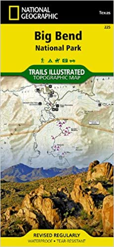 Big bend national park national geographic trails illustrated map flip to back flip to front gumiabroncs Gallery