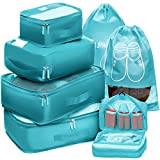 Packing Cubes Travel Set 7 Pc Luggage Carry-On Organizers Toiletry & Laundry Bag