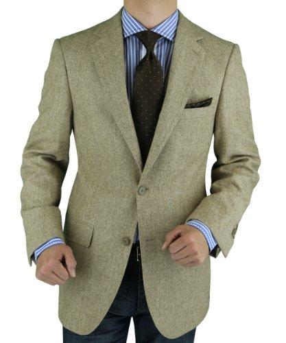 Luciano Natazzi Made in Italy Mens Blazer Canali Camel Hair Fabric Sport Coat
