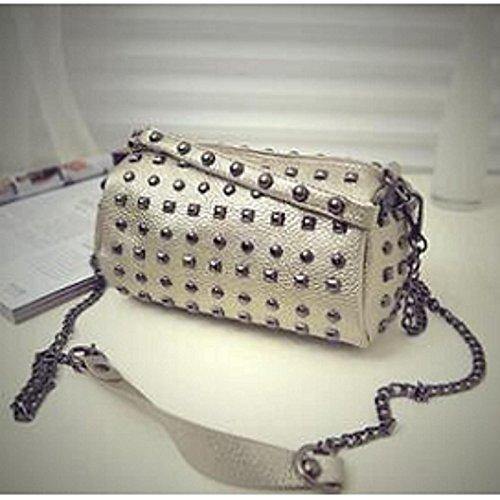 Gray Crossbody Black PU Zipper Women's GMYAN Gold Bags Bag Red 4q00ga