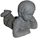 "Cheap Emsco Group Day Dreaming Boy Statue – Natural Granite Appearance – Made of Resin – Lightweight – 11"" Height"