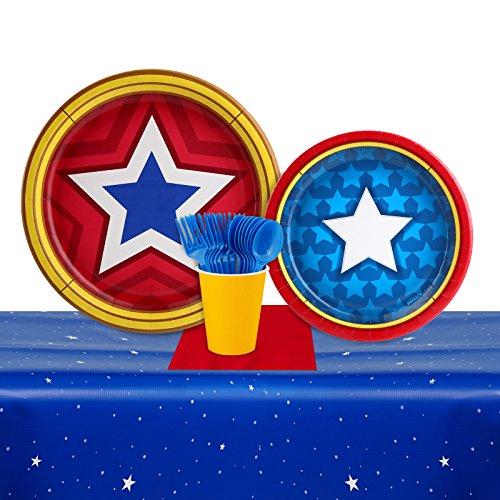 Mighty Super Hero Girl Power Wonder Woman Birthday Party Pack (16 -