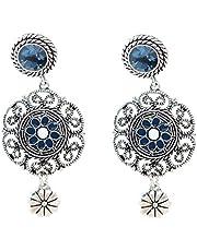 Baosity Boho Vintage Crystal Rhinestone Women Earrings Drop Earrings Stud For Women