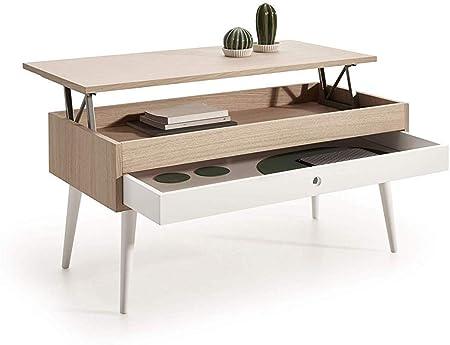 avec ES Basse relevable HOGAR24 Table Coulissant tiroir tshCrdBQx