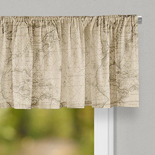 "Glenna Jean Explore Curtain Valance 70""W x18""H for Kids Window"