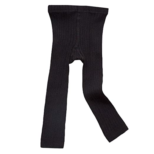 e719448d7fe8a Girls' Footless Tight, Footless Leggings Pants Tights Warm Stockings for Toddler  Kids (Black