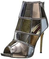 2 Lips Too Women's Too Kamikaze Boot, Metallic/Multi, 6.5 M US