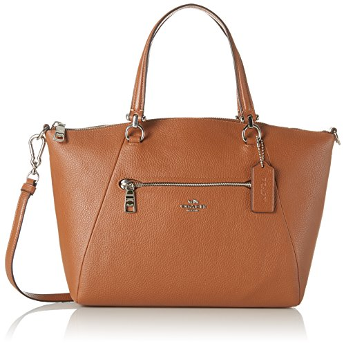 Coach Women's Prairie Satchel Bag, Silver, Saddle, OS by Coach