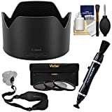 Canon ES-83 Lens Hood for RF 50mm f/1.2 L USM with 3 UV/CPL/ND8 Filters + Strap + Cleaning Kit