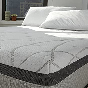 Sleep Innovations Skylar 12-inch Gel Memory Foam Mattress, Made in the USA with a 20-Year Warranty - King Size