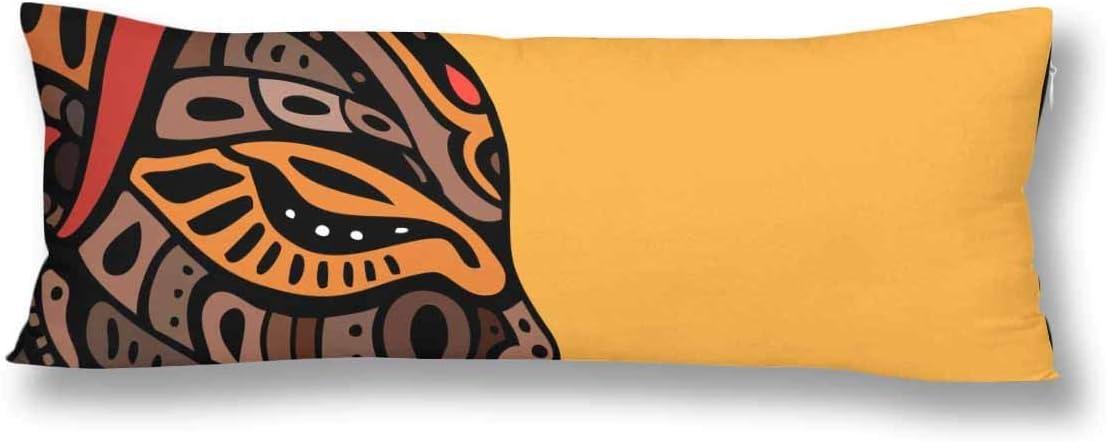 CiCiDi Seitenschl/äferkissen Kissen-Bezug 40x145 cm sch/öne afrikanische Frau Atmungsaktives Kissenh/üllen mit Rei/ßverschluss Baumwollen und Polyester