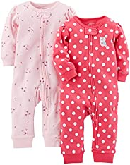 Simple Joys by Carter's baby-girls 2-Pack Cotton Footless Sleep and Play Fo