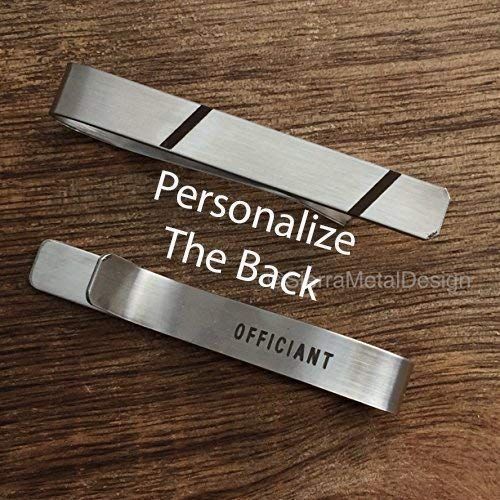 Officiant Tie Clip Officiant Tie Bar Officiant Gift For Officiant Gift Engraved Tie Clip Gift For My Officiant Pastor Gift Wedding Party by Sierra Metal Design
