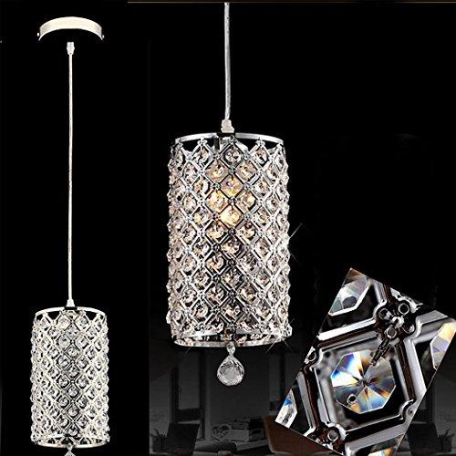 FDegage Modern Mini Crystal Ceiling Pendant Light Chrome Finish Lamp Chain Chandelier Christmas Decoration for Dining Room, Kitchen - Edge Mini Pendant