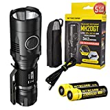 Nitecore MH20GT 1000 Lumens USB Rechargeable Long Throwing CREE XP-L HI V3 Flashlight with 2x Nitecore 2300 mAh 18650 Li-ion Battery, LumenTac Adapters