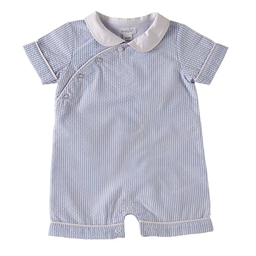 Mud Pie Baby Boys' Seersucker Shortall (3-6 ()
