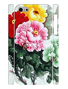 Lovely Flowers and Birds Design Hard Plastic Back Case Cover for Iphone 5C wangjiang maoyi