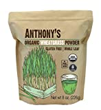Anthony's Organic Wheatgrass Powder, 8oz, Grown in USA, Whole Leaf, Gluten Free, Non GMO