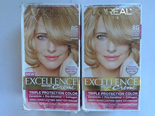 Exc H/C Gld Bld #8g R Size 1ct L'Oreal Excellence Creme Hair Color Medium Golden Blonde #8g -  L'Oreal Paris, KA035222