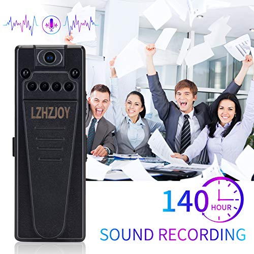 LZHZJOY Mini Camera 1080P HD Small Home Nanny Cam Portable Video Recorder Wearable Voice Recorder for Home-Classroom Lectures-Meetings(with 32G Card)