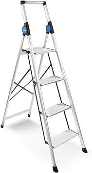 Escaleras Escalera plegable telescópica multifunción de cuatro pasos for el hogar, Escalera de aleación de aluminio, Escalera plegable, Escalera de tijera, Extensión extendida, Pies antideslizantes, F: Amazon.es: Bricolaje y herramientas