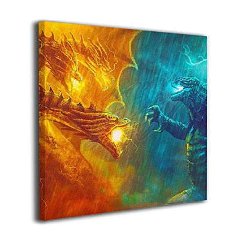 Little Monster Godzilla 2 King of The Monsters 2019 Stretched Pictures On Canvas Home Decor Modern Art for Child Bedroom 24x24in -