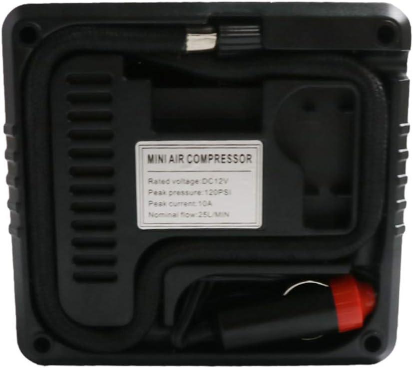 Garneck DC 12V 120 PSI 19 Cilindri 120W Pompa per compressore daria per auto per veicoli Gonfiatore di pneumatici portatile di alta qualit/à con manometro