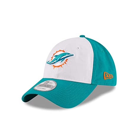 26568becdec Image Unavailable. Image not available for. Color  New Era Miami Dolphins  White Front Core Shore 9TWENTY Adjustable Hat Cap