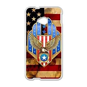 Happy American Flag Custom Protective Hard Phone Cae For HTC One M7