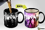 new yankees freezer mug - Heat Sensitive Morphing Mug | Color Changing Coffee Mug | Funny Coffee Cup | Party Magic Mug 11oz black mug| Funny Coffee/Tea Cup | 100% Ceramic| Great Gift Idea