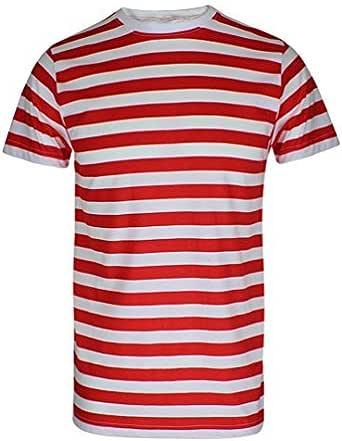 Camiseta de hombre de Rayas Rojas y Blancas - Negras y Blancas - Azules y Blancas - Divertida Camiseta