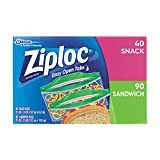 Ziploc Sandwich and Snack Lunch Pack, 130 Count (Pack of 9) Reviews