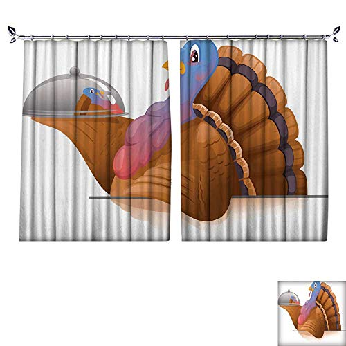 DragonBuildingMaterials Blackout Draperies for Bedroom Turkey with Metal Tray W55 x L63
