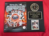 Astros All Time Greats Collectors Clock Plaque w/8x10 Photo and Card