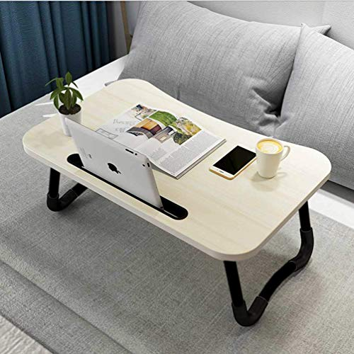 PRO365® Smart Indian 12 MM Bed Table/Laptop Table/Tablet Stand/Cup Holder/Foldable/Ergonomic Round Edges (White)