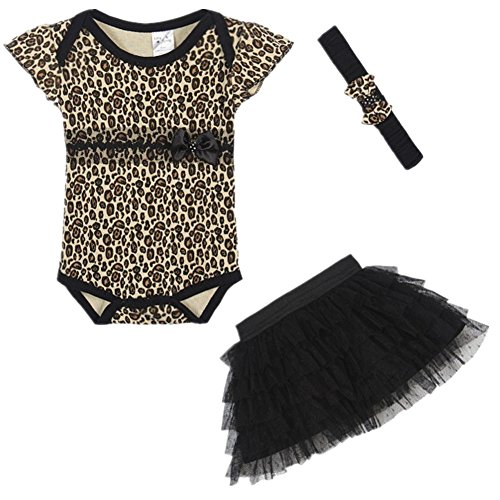 [LittleSpring Baby Girls' Clothing suit Leopard Size 18M US Leopard] (Christmas Outfits Baby)