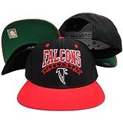 932ab431a7d Amazon.com   Reebok Atlanta Falcons Black Red Two Tone Plastic ...