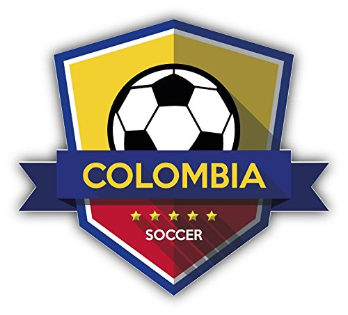 Colombia Flag National Soccer Team Badge Vinyl Decal Bumper Sticker 5'' X 5''