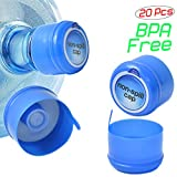 6 gallon beverage cooler - LoveDeal 3&5 Gallon Water Jug Cap, 55mm Non Spill Replacement Water Bottle Cap, with Cap-Opener Anti Splash Peel and Leak-Proof Foam Gaskets, Pack of 20