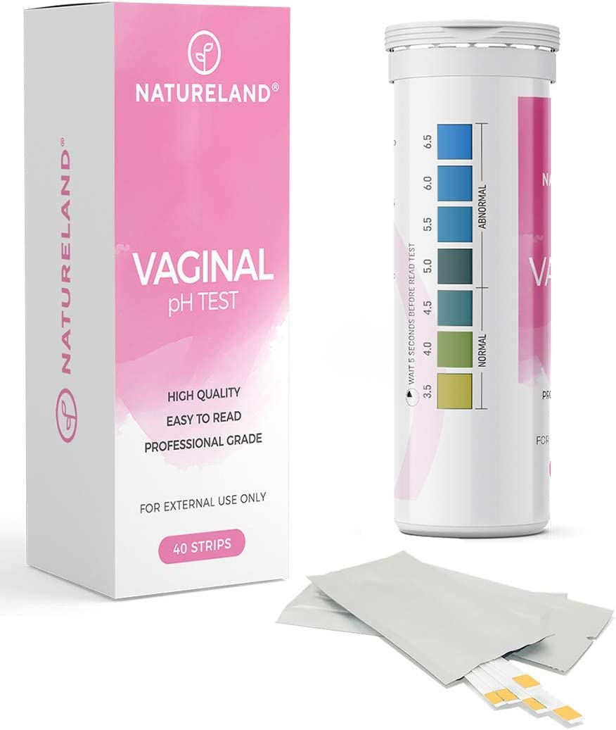 [40 Strips] Natureland Vaginal Health pH Test Strips, Feminine pH Test, Value Pack | Monitor Vaginal Intimate Health & Prevent Infection | Accurate Acidity & Alkalinity Balance