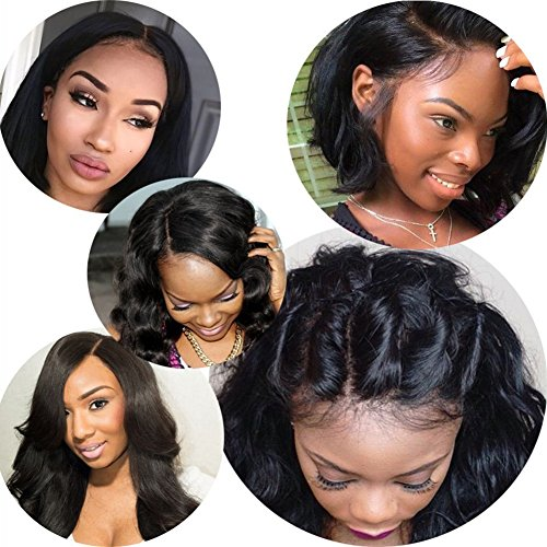 Body Wave 13x6 Lace Frontal Closure Brazilian Virgin Human Hair Full Lace Closure with Baby Hair Natural Color(13X6 Lace Frontal Closure Body Wave -