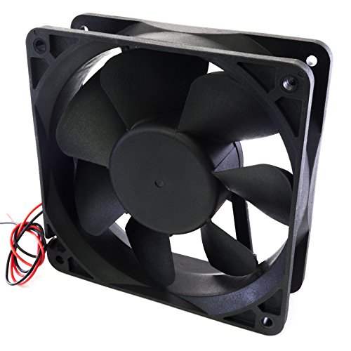Maker Girl USA DC Case Fan Brushless 120mm x 120mm x 38mm 12V Quiet Output 12038
