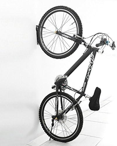 Soporte para Bicicletas pared Vertical Gancho Bicicleta Pared Puede contener 18 kg(Naranja) Pesado Soporte para Almacenamiento de Bicicletas en Interiores para Bicicletas de Carretera o monta/ña