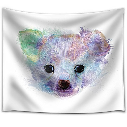 Fun and Colorful Splattered Watercolor Chihuahua Puppy