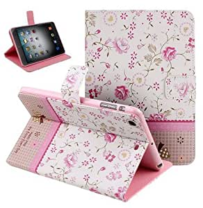 Case For iPad 2,Candywe Beautiful Flowers Leather Case Cover With Stand For iPad 2 3 4 019
