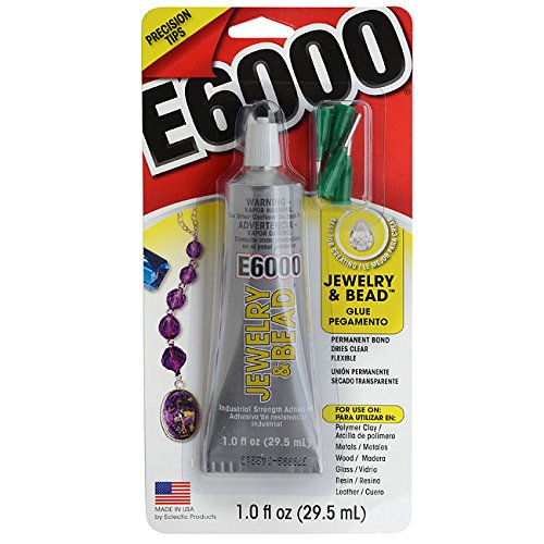 E6000 Jewelry And Bead Adhesive With 4 Precision Applicator Tips For Jewelry! (Original Version)