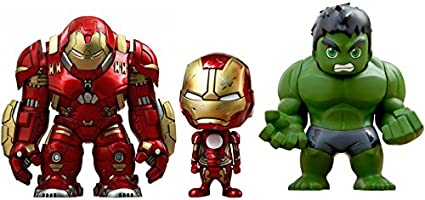 Hot Toys - Figurine Marvel Avengers Age of Ultron - Pack de 3 Cosbaby Hulk / Iron Man Mark XLIII / Hulkbuster 14cm - 4897011176987: Amazon.es: Juguetes y juegos
